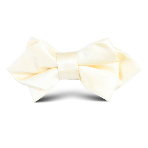Light Yellow Satin Kids Diamond Bow Tie