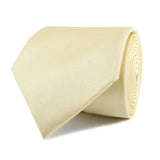 Light Yellow Satin Necktie Front Roll