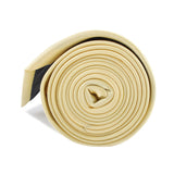 Light Yellow Satin Necktie Side Roll