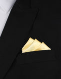 Light Yellow Satin Oxygen Three Point Pocket Square Fold