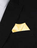 Light Yellow Satin Winged Puff Pocket Square Fold