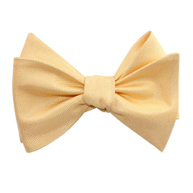 Light Yellow Self Tie Bow Tie