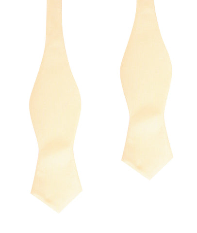 Light Yellow Self Tie Diamond Tip Bow Tie