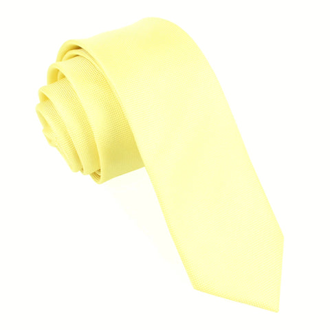 Light Yellow Skinny Tie