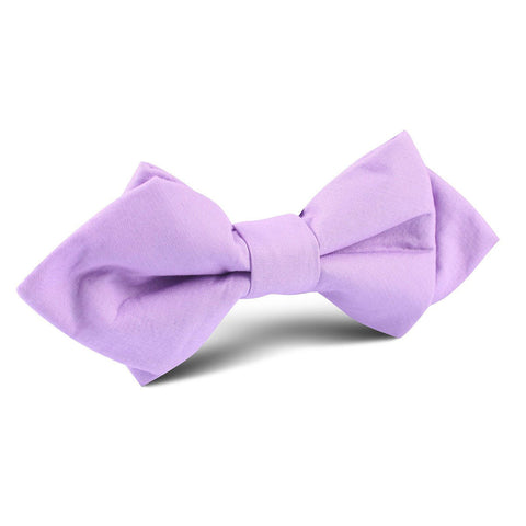 Lilac Purple Cotton Diamond Bow Tie