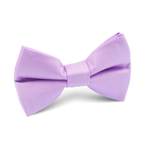 Lilac Purple Cotton Kids Bow Tie