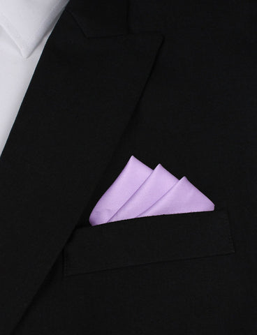Lilac Purple Cotton Pocket Square