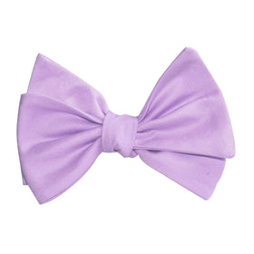 Lilac Purple Cotton Self Tie Bow Tie