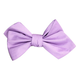 Lilac Purple Cotton Self Tie Diamond Tip Bow Tie