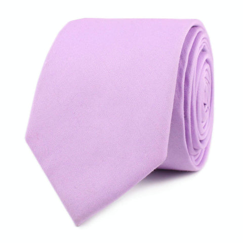 Lilac Purple Cotton Skinny Tie