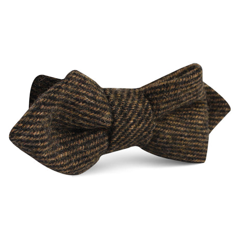 Lincoln Wool Diamond Bow Tie
