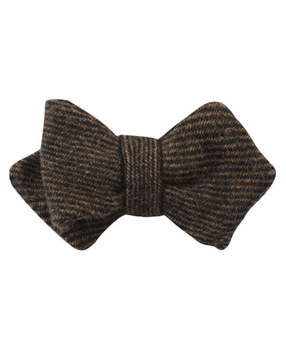 Lincoln Wool Diamond Self Bow Tie