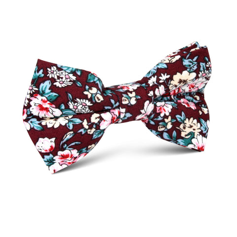 London Brown Floral Kids Bow Tie