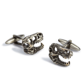 Lost Kingdom Dinosaur T-Rex Skull Cufflinks