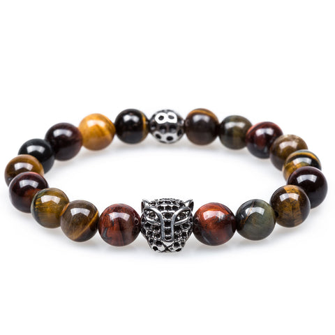 Lucius Black Panther Tiger's Eye Bracelet
