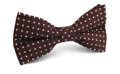 Lungo Brown Polkadot Cotton Bow Tie