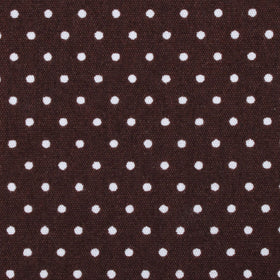Lungo Brown Polkadot Cotton Diamond Bow Tie