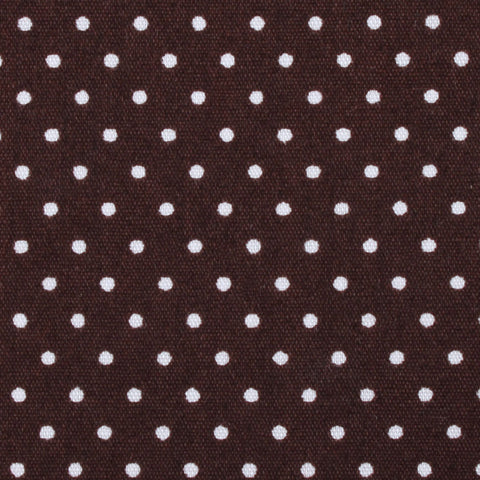 Lungo Brown Polkadot Cotton Pocket Square