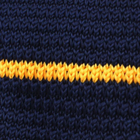 Luxor Navy and Yellow Knitted Tie