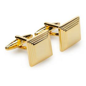Macau Gold Square Cufflinks