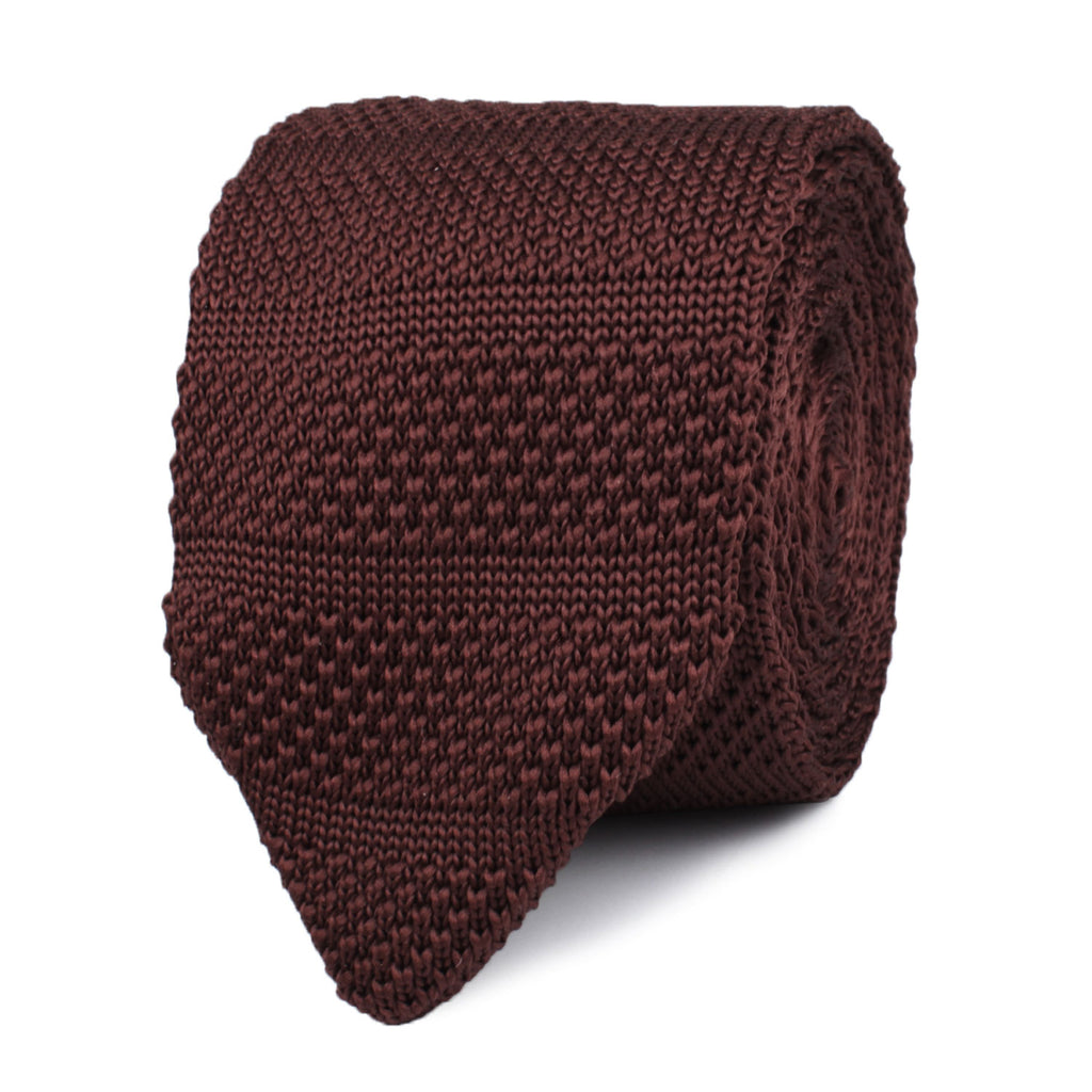 Macchiato Brown Knitted Tie