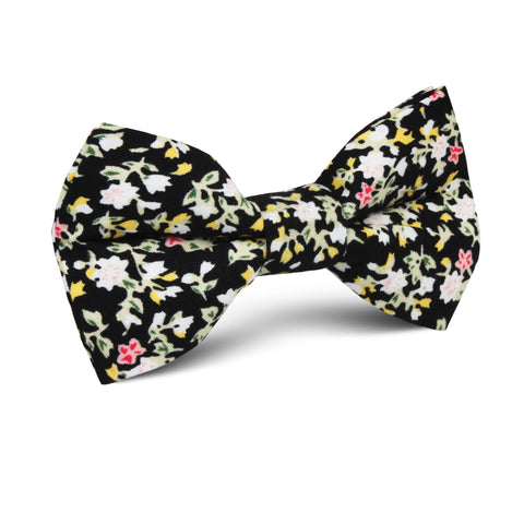 Madagascar Black Floral Kids Bow Tie