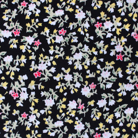 Madagascar Black Floral Pocket Square