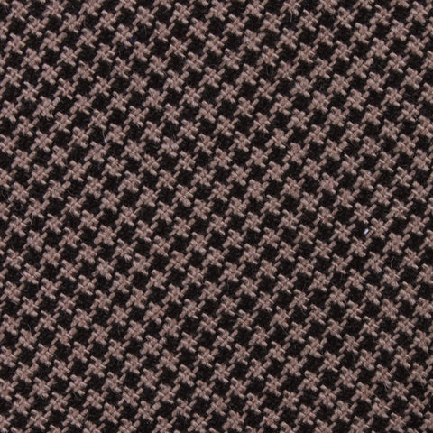 Madrid Brown Houndstooth Diamond Bow Tie