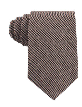 Madrid Brown Houndstooth Tie