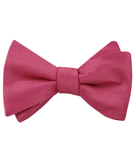 Magenta Pink Satin Self Bow Tie