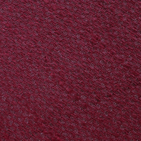 Mahogany Wine Linen Twill Pocket Square