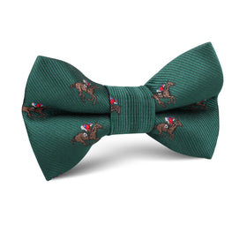 Makybe Diva Dark Green Racehorse Kids Bow Tie