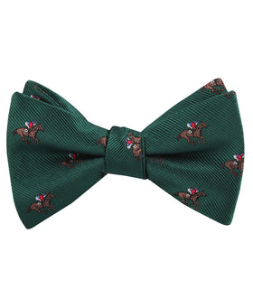 Makybe Diva Dark Green Racehorse Self Bow Tie