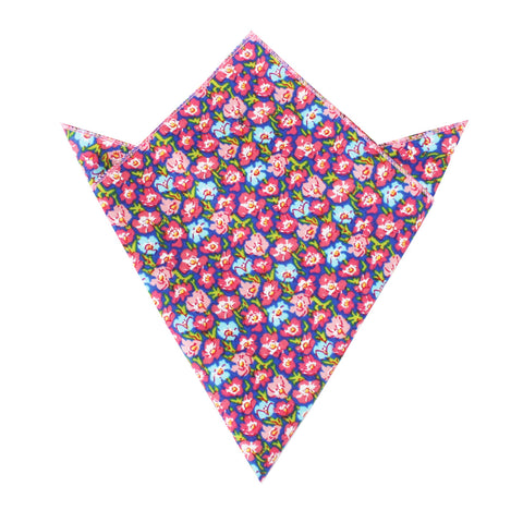 Málaga Pink Floral Pocket Square