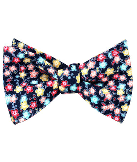 Manama Flower Self Bow Tie