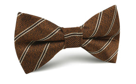 Manhattan Brown Bronze Striped Bow Tie