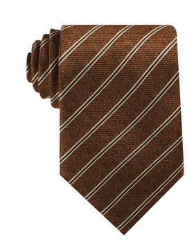 Manhattan Brown Bronze Striped Necktie