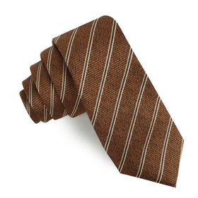 Manhattan Brown Bronze Striped Skinny Tie