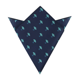 Manta Stingray Pocket Square