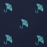 Manta Stingray Skinny Tie Fabric