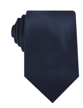 Marine Midnight Blue Satin Necktie