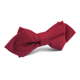 Maroon Cotton Diamond Bow Tie