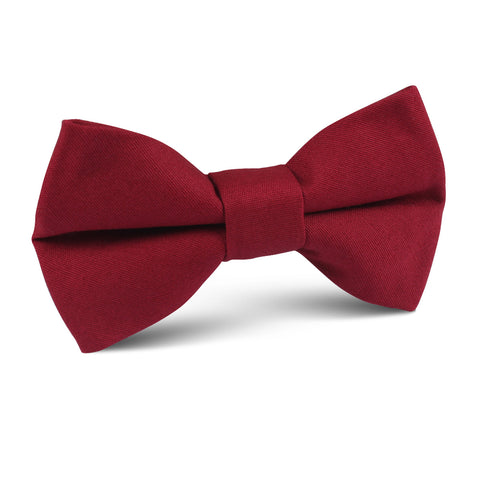 Maroon Cotton Kids Bow Tie