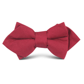 Maroon Cotton Kids Diamond Bow Tie