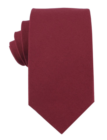 Maroon Cotton Necktie
