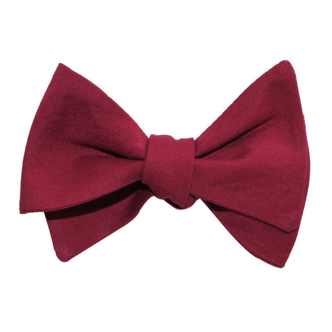 Maroon Cotton Self Tie Bow Tie