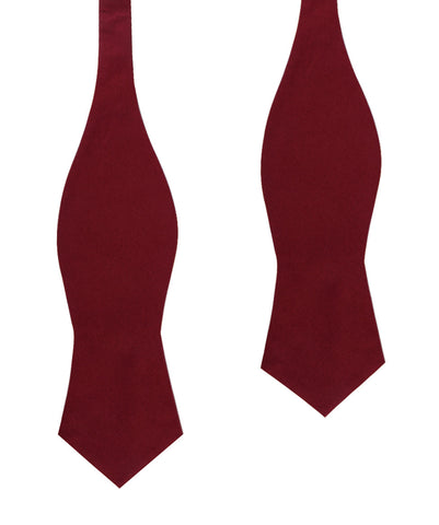 Maroon Cotton Self Tie Diamond Bow Tie