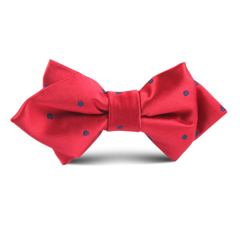 Maroon Dark Dot Kids Diamond Bow Tie