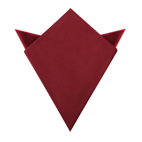 Maroon Velvet Pocket Square