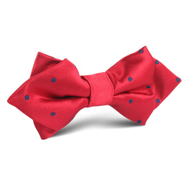 Maroon with Dark Polka Dots Diamond Bow Tie
